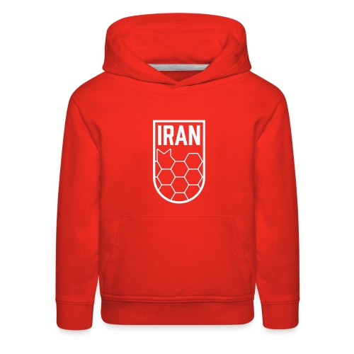 Geometric Iran Soccer Badge - Kids' Premium Hoodie