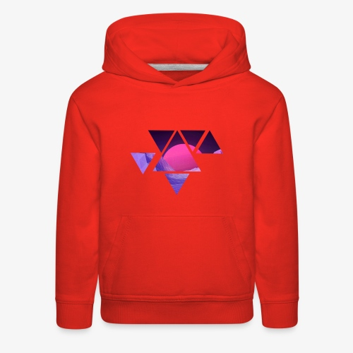 abstract retro design - Kids' Premium Hoodie