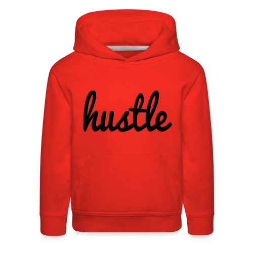 hustle vector - Kids' Premium Hoodie