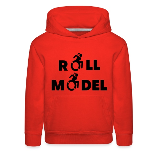 As a lady in a wheelchair i am a roll model - Kids' Premium Hoodie