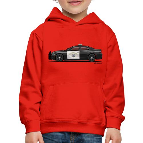 California Highway Patrol Charger Police Car - Kids' Premium Hoodie