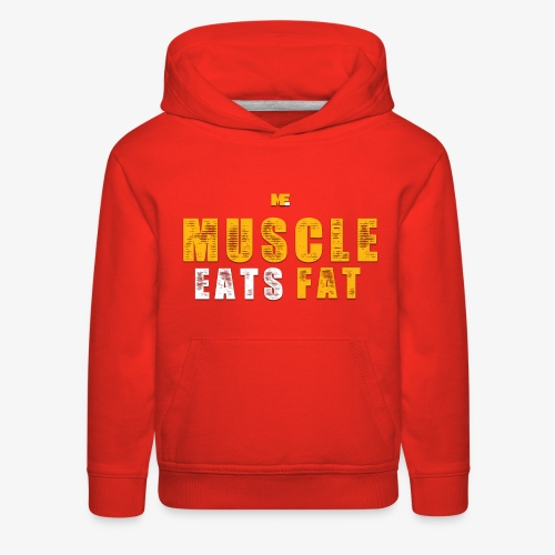 Muscle Eats Fat (Royal Yellow) - Kids' Premium Hoodie