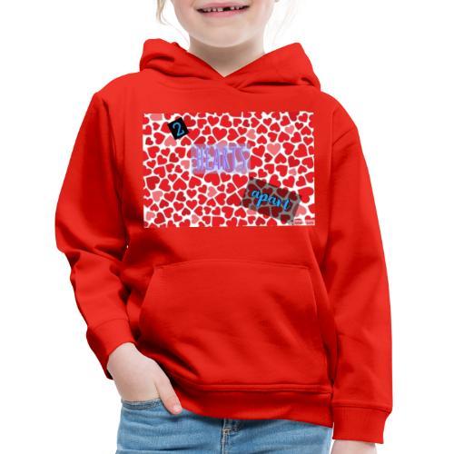 2 hearts apart - Kids' Premium Hoodie