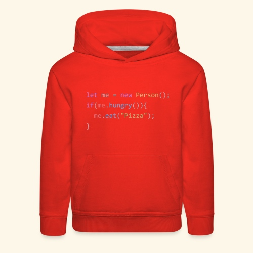 Pizza Code - Colored Version - Kids' Premium Hoodie