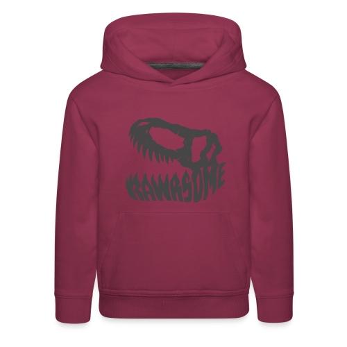 RAWRsome T Rex Skull by Beanie Draws - Kids' Premium Hoodie