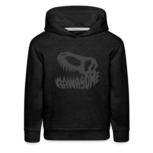 RAWRsome T Rex Skull by Beanie Draws - Kids' Premium Hoodie