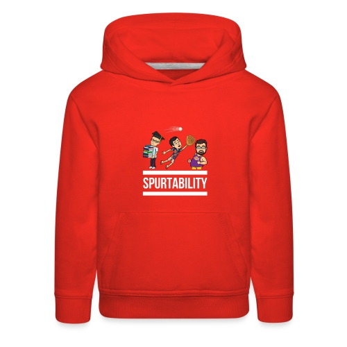 Spurtability White Text - Kids' Premium Hoodie