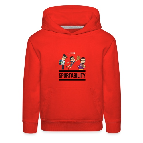 Spurtability Black Text - Kids' Premium Hoodie
