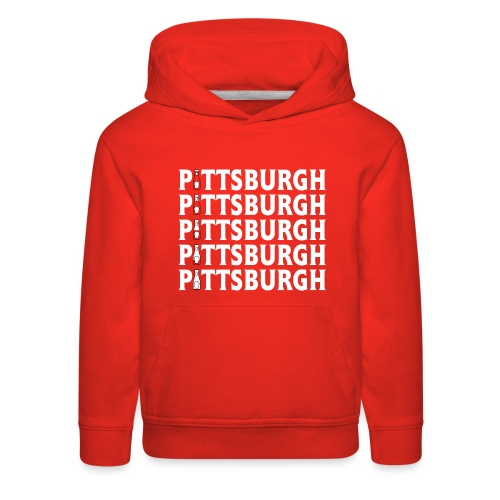 Ketch Up in PGH (Red) - Kids' Premium Hoodie