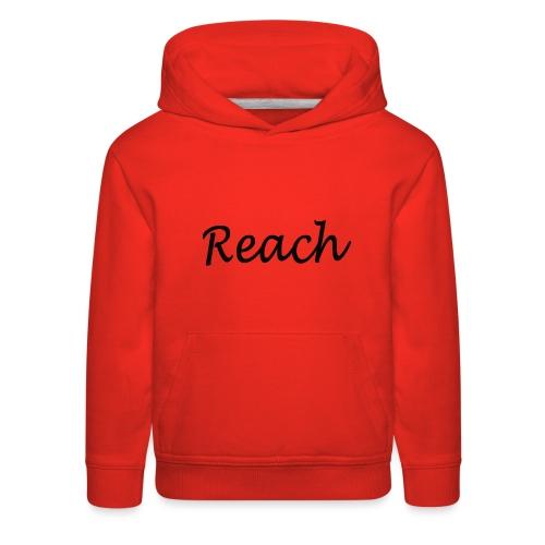 Classic Reach logo black - Kids' Premium Hoodie