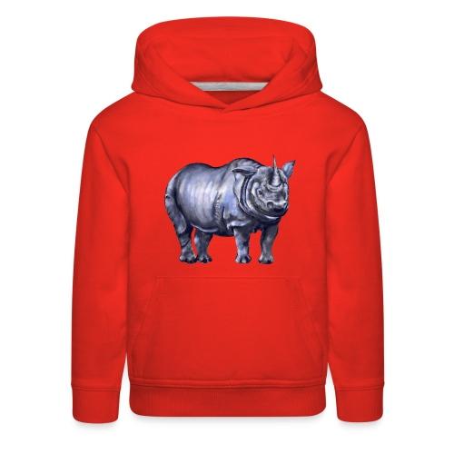 One horned rhino - Kids' Premium Hoodie
