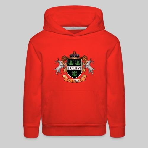 Satanic Heraldry - Coat of Arms - Kids' Premium Hoodie