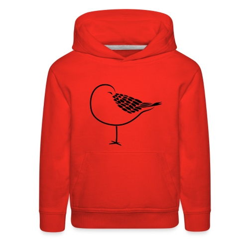 sleeping bird early dove wings seagull feather - Kids' Premium Hoodie
