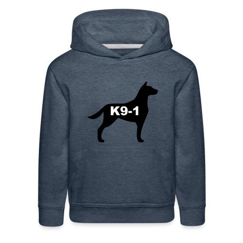 k9-1 Logo Large - Kids' Premium Hoodie