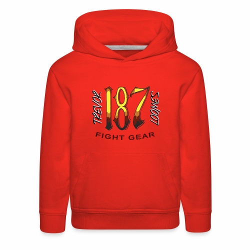 Coloured Trevor Loomes 187 Fight Gear Logo - Kids' Premium Hoodie