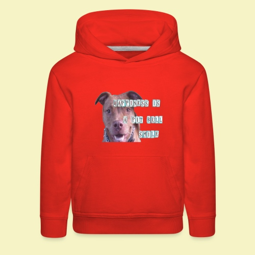 HAPPINESS IS A PIT BULL SMILE - Kids' Premium Hoodie