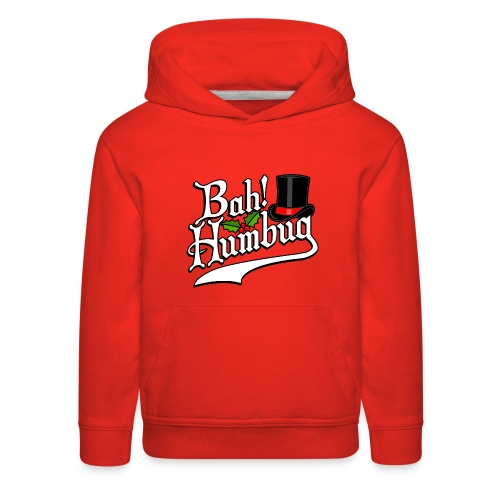 Bah Humbug Christmas Scrooge Funny No Humbuggery - Kids' Premium Hoodie
