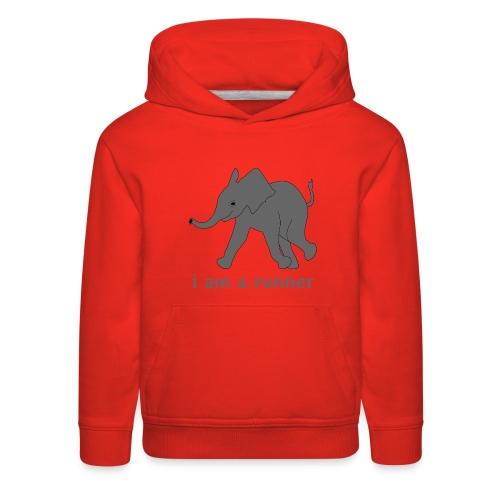 young elephant runner - Kids' Premium Hoodie