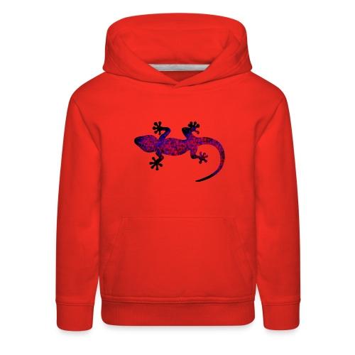 gecko blue red camouflage - Kids' Premium Hoodie