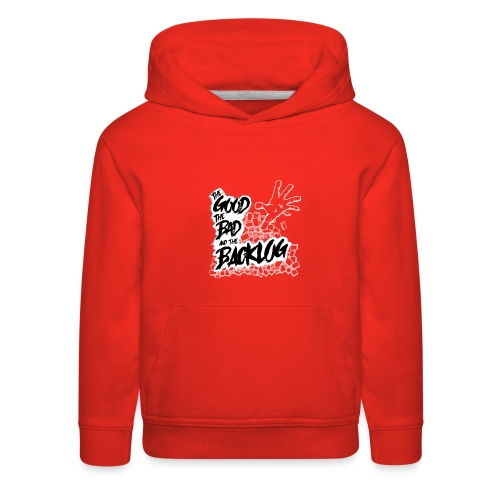 The Good, the Bad, and the Backlog - White logo - Kids' Premium Hoodie