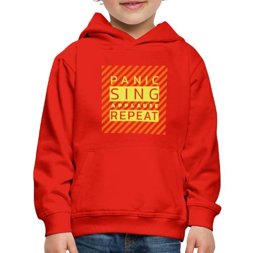 Panic — Sing — Applause — Repeat (duotone) - Kids' Premium Hoodie