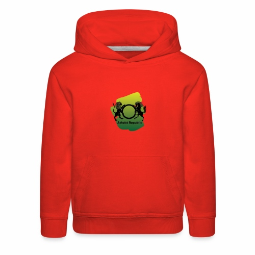 Atheist Republic Logo - Yellow & Green Paint - Kids' Premium Hoodie