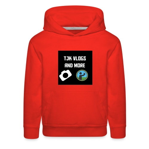 TJK Vlogs and More logo clothing - Kids' Premium Hoodie