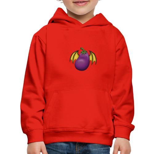 Eggplant Logo - Kids' Premium Hoodie
