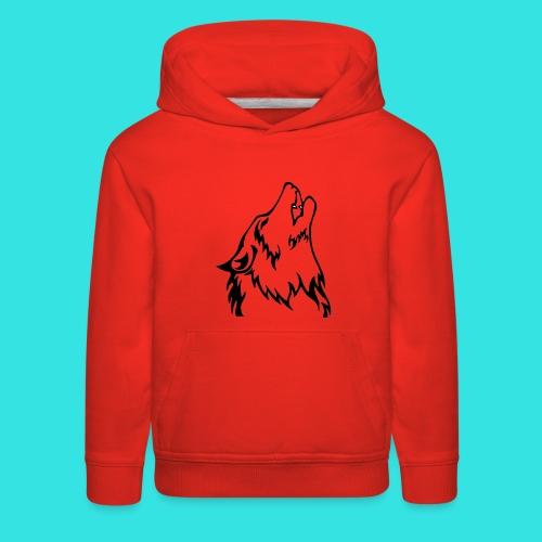 Wolf (back) - Kids' Premium Hoodie