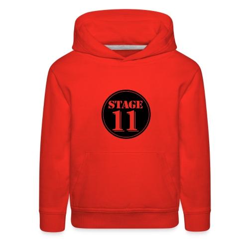 stage11 logo circle TRANSPARENT - Kids' Premium Hoodie