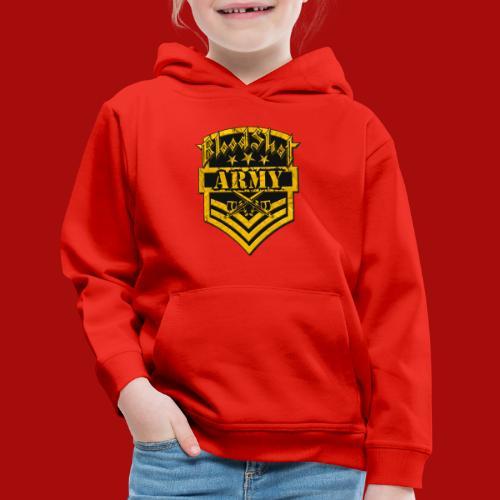 BloodShot ARMYLogo Gold /Black - Kids' Premium Hoodie