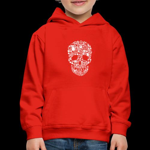 Getting Schooled Skull - Kids' Premium Hoodie