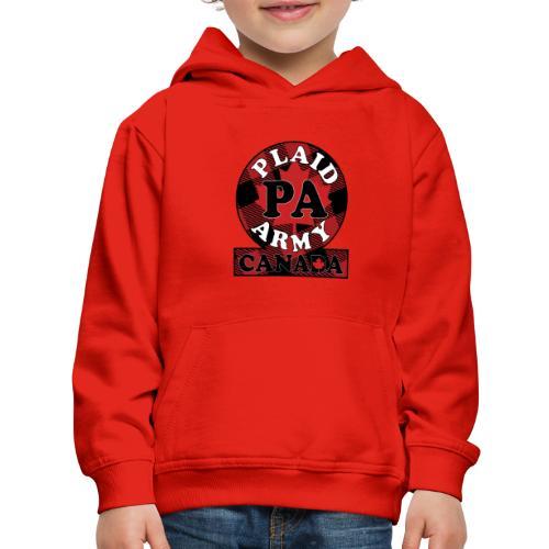 Plaid Army Canada - Kids' Premium Hoodie