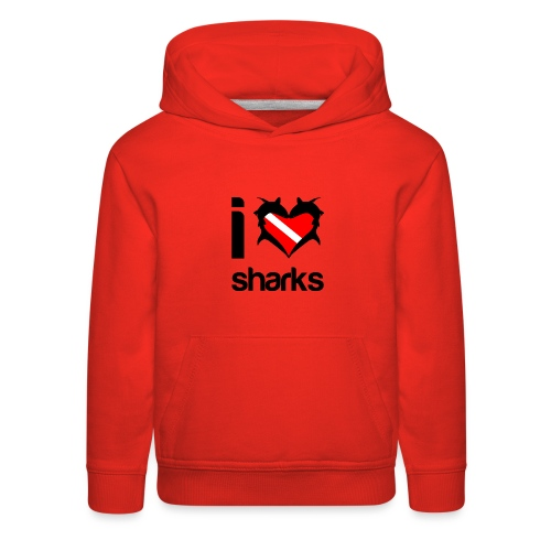 I Love Sharks - Kids' Premium Hoodie