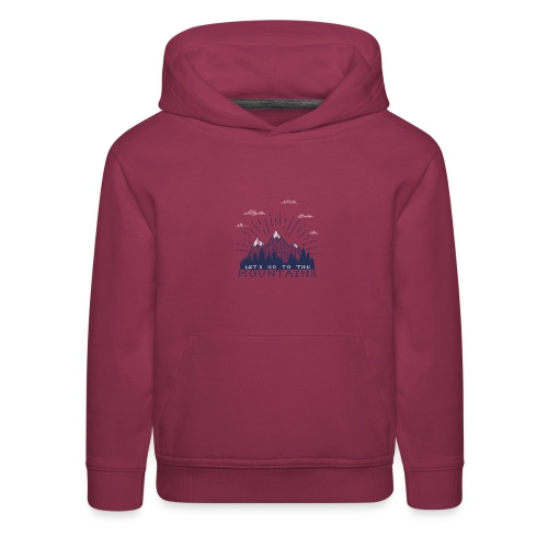 Adventure Mountains T-shirts and Products - Kids' Premium Hoodie