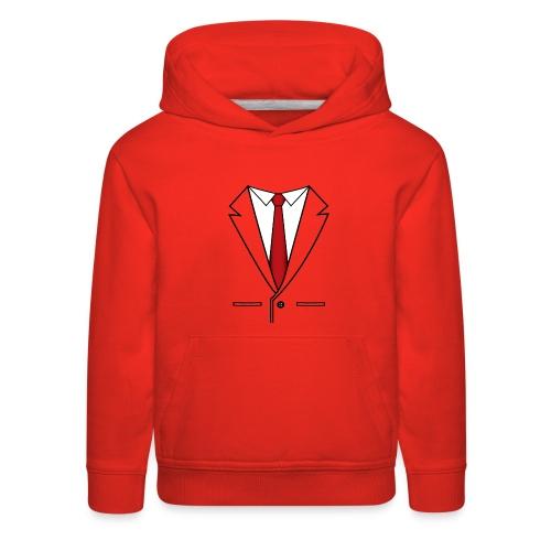 Suit and Red Tie - Kids' Premium Hoodie