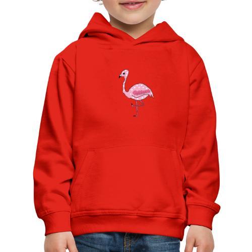 Polka Dotted Flamingo - Kids' Premium Hoodie