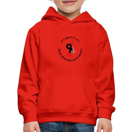 NINE Logo with Wings - Kids' Premium Hoodie