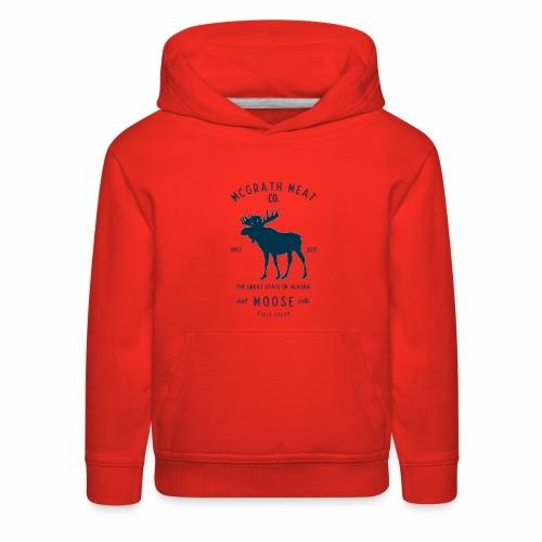 McGrath Meat Company Blue Stamp Logo - Kids' Premium Hoodie