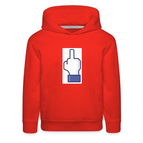 facebook middle finger di - Kids' Premium Hoodie