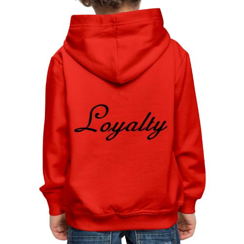 Loyalty Brand Items - Black Color - Kids' Premium Hoodie