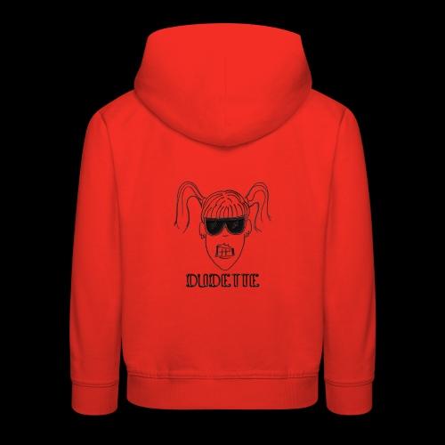 Dudette Head 1 - Kids' Premium Hoodie