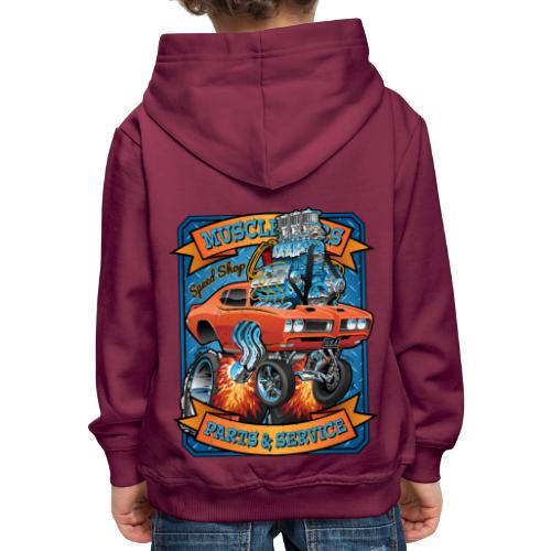 Classic Sixties Muscle Car Parts & Service Cartoon - Kids' Premium Hoodie