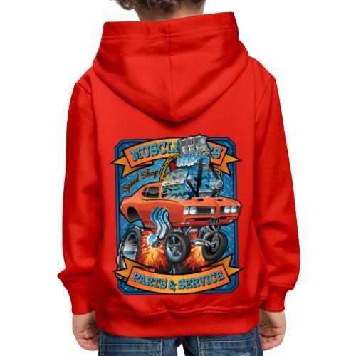 Classic Sixties Muscle Car Parts & Service Cartoon - Kids' Premium Hoodie