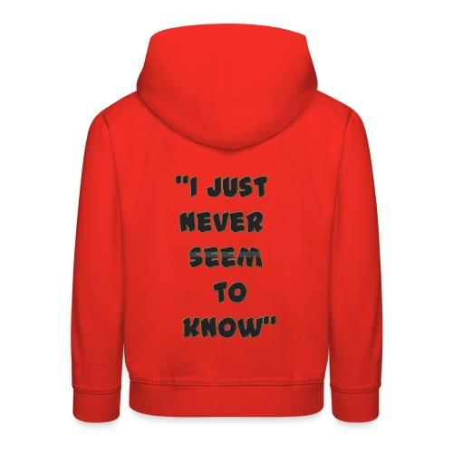 know png - Kids' Premium Hoodie