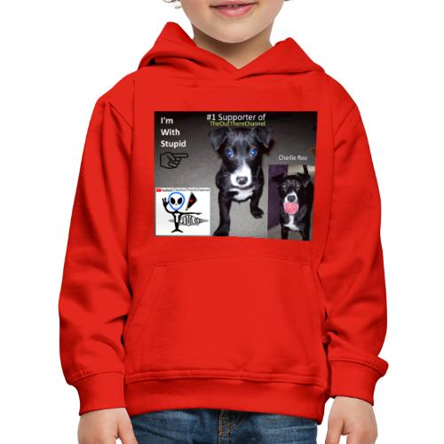 OTchanCharlieRoo with Crew Back Logo - Kids' Premium Hoodie