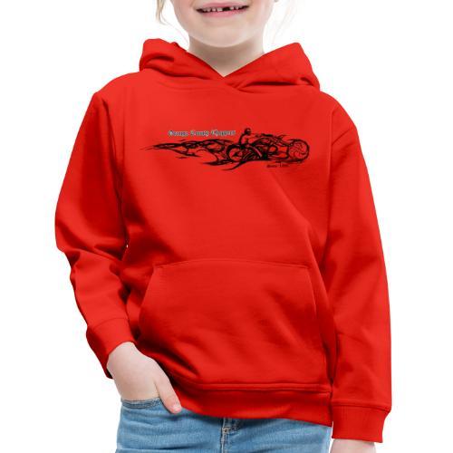 Sketch Rider Front - Kids' Premium Hoodie