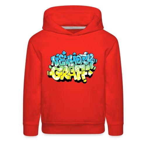LAWE/SUB53 Design for New York Graffiti Color Logo - Kids' Premium Hoodie