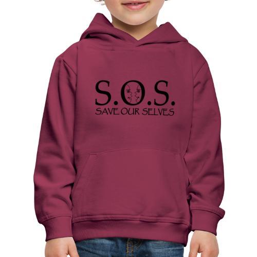 SOS Black on Black - Kids' Premium Hoodie