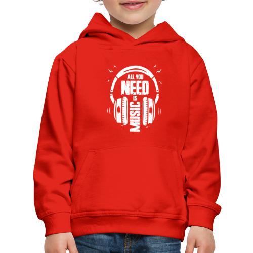 music - Kids' Premium Hoodie
